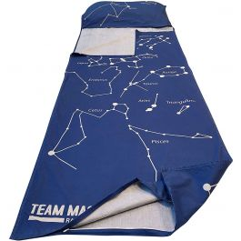 Tundra wolf kids' sleeping bag liner and pillowcase - blue